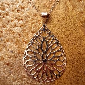 BARSE Sterling Teardrop Floral Necklace-NWT!
